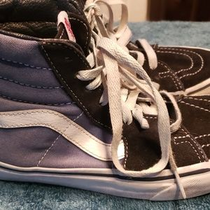 Vans off the Wall Blue High Top Sneakers